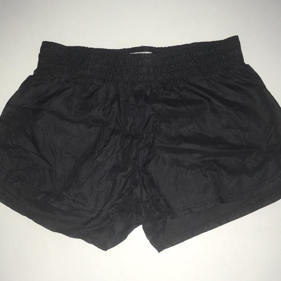Size XS Burgundy Shiny Short Nylon Shorts by Soffe